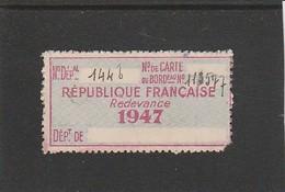 FISCAL - FISCAUX - TIMBRE DE VIANDE - A5 - 1947 - Fiscali