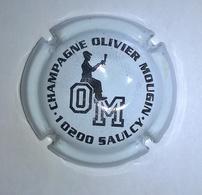 """Plaque De Muselet De Champagne """" OM - Olivier MOUGIN - Noir Et Blanc Dégustation """" - Other"""