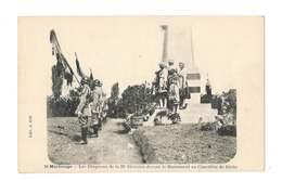 Morhange - Les Drapeaux De La 39e Division Devant Le Monument Au Cimetière De Riche - 75 - Morhange