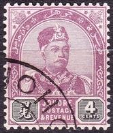 MALAYA JOHORE 1891 4 Cents Dull Purple & Black SG24 FU - Johore