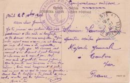 MISSION D Mission Navale Française En Serbie, Carte De NICH Déc. 1914 Par Valise Diplomatique > PARIS Pièce Superbe RRR - WW I
