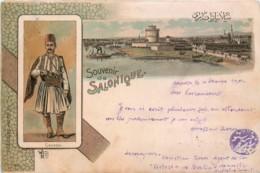 Grèce - Type Gruss Aus - Souvenir De Salonique - Cavass - Edit. Bader - Greece