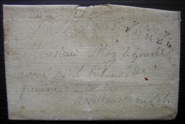 Fumel (Lot Et Garonne) 1821 Marque P45P FUMEL (port Payé) Sur Une Lettre De Villefranche Pour Villeneuve Sur Lot - Postmark Collection (Covers)