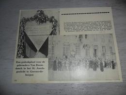 """Origineel Knipsel ( 1736 ) Uit Tijdschrift """" Ons Volk """"  1934 :  Geeraardsbergen  Geraardsbergen  Grammont Van Raemdonck - Vieux Papiers"""