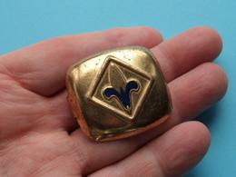 SJAAL - DAS - HALSDOEK - SCARF - TIE > PIN / SPELD ( See / Voir Photo Pour Detail ) 1 Stuk ! - Scoutisme