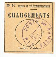 TCHAD BORDEREAU ( LETTRE ) 1975 RARE CACHET FRANCAIS POSTE AUX ARMEES 617 = DE 1969 A 1984 LA FRANCE A EFFECTUE 3 INTERV - 1961-....
