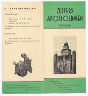 BRUGGE ZUSTERS APOSTOLINNEN INSTITUUT JERUSALEM BEWAARSCHOOL ... KANTENAFDELING - DACTYLO KANTWERKSTER JERUSALEMKERK - Reclame