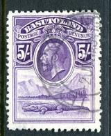 Basutoland 1933 KGV Crocodile - 5/- Violet Used (SG 9) - Basutoland (1933-1966)