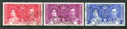 Basutoland 1937 KGVI Coronation Set Used (SG 15-17) - Basutoland (1933-1966)