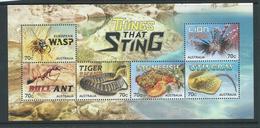 Australia 2014 Stinging Animals Miniature Sheet MNH - 2010-... Elizabeth II