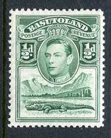 Basutoland 1938 KGVI Crocodile & Mountains - ½d Green HM (SG 18) - Basutoland (1933-1966)