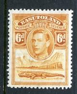 Basutoland 1938 KGVI Crocodile & Mountains - 6d Orange-yellow HM (SG 24) - Basutoland (1933-1966)