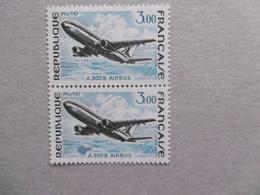 FRANCE 1973 NO YT 1751  * *  A 300 B AIRBUS  OBJET NON IDENTIFIE SUR LE SECOND TIMBRE - Variétés Et Curiosités