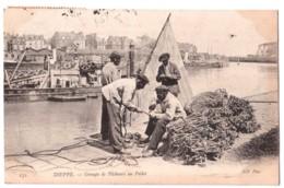 Dieppe - Groupe De Pêcheurs Au Pollet - édit. ND Neurdein 172 + Verso - Dieppe