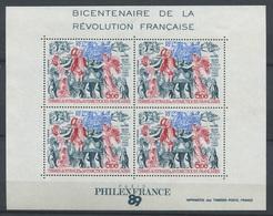 TAAF 1989 - PA N° F108 - BF N° 1 - Bicentenaire De La Révolution Française - Philexfrance 89 - Neuf -** - Nuovi