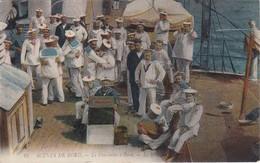 SCENES DE BORD - Le Dimanche à Bord - Une Petite Danse Entre Copains - Très Bon état - Carte Envoyée De Cherbourg 1915 - Guerre 1914-18