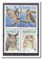 Aland 1996, Postfris MNH, Birds, Owls, WWF - Aland