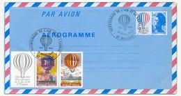 FRANCE => Aérogramme 3,10 Bicentenaire De L'Air Et De L'Espace + Compléments Cachet Temporaire ANNONAY Bicentenaire 1983 - Aérogrammes