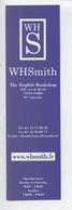WHS WHSmith - The English Booksop Rue De Rivoli Paris (marque-pages 18X5) - Marque-Pages