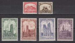 1928. COB N° 267/72 *, MH. Cote COB 2018 : 35 € - Unused Stamps