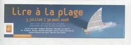 Lire à La Plage 2008 Seine Maritime (marque-pages 19X5) - Lesezeichen