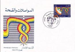 FDC ALGERIE 1981  TELECOMMUNICATION Et SANTE - Algérie (1962-...)