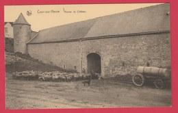 Cour-sur-Heure - Ferme Du Château ... Troupeau De Moutons ( Voir Verso ) - Ham-sur-Heure-Nalinnes