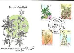 1982 Algerie FDC N YT 759 à 761  Flore . Plantes Médicinales - Algérie (1962-...)