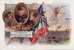 CPA 2546 - MILITARIA - Carte Militaire Patriotique - Anniversaire De La Bataille De La Marne - FRENCH, JOFFRE, GALLIENI - Patriotiques