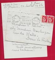 Courrier Autographe 13 VICHY Allier (Mme Personne, Rue Des Sources) 1940 Seconde Guerre Mondiale - Historical Documents