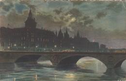 CARTE  PARIS   COLLECTION   LES FEERIES NOCTUNE DE PARIS  N°34 PONT AU CHANGE   PARIS LA  NUIT - Parijs Bij Nacht