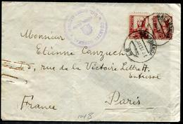 ESPAGNE - N° 582 (2)  / LETTRE DE SALAMANQUE LE 27/5/1937 POUR PARIS AVEC CENSURE - TB - 1931-50 Briefe U. Dokumente