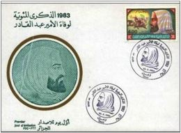 Algérie - FDC Centenaire De La Mort De L'Emir Abdelkader N YT 786 1983 - Algérie (1962-...)