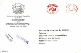 BELGIQUE : 1968 - Lettre (Imprimé) Pour La France - Faculté D'Agronomie - Devise Latine - Belgique