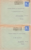 BELGIQUE : Années 50 - Lot De 2 Lettres Pour La France - Bélgica