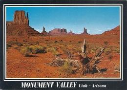 CPM . MONUMENT VALLEY  -  UTAH  -  ARIZONA  . CARTE ECRITE AU VERSO - Etats-Unis