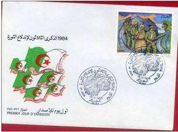Algérie-FDC 1984 - 30e Anniversaire De La Revolution YT 825 - Algérie (1962-...)