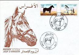 ALGERIE. N°813-4 Sur Enveloppe 1er Jour (FDC) De 1984. Chevaux. - Algérie (1962-...)