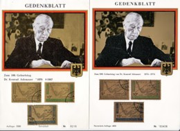 YEMEN : 1967 - Souvenirs - Anniversaire De Konrad Adenauer - 1876-1967 - Jemen