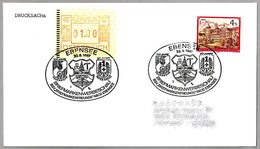 100 Año BOMBEROS - 80 Años CRUZ ROJA - 100 Years Firefighters - 80 Years Red Cross. Ebensee 1987 - Bombero