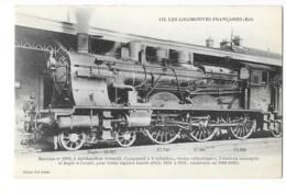 Les Locomotives Françaises (Est) - Machine N° 3160 à Surchauffeur Schmidt - édit. F.F. Fleury 112 + Verso - Trains