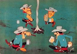Morris - LUCKY LUKE Et Ses Compagnons - Les Daltons Boivent Le Café - Editions D'art Yvon N'24-116-19 - Bandes Dessinées