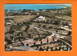 """CALVI  Corse    CPSM      """"  Camp De Vacances  Vue Générale Aérienne """"  1966     Num   343-88 A   Pour TARRAGONA Espagne - Calvi"""