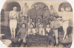 CARTE-PHOTO / Soldats / Militaires / 31ème Dragons (Cavalerie) / Sabres, Clairons, Fusils - Régiments