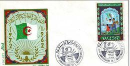 ALGERIE 1972 - FDC : Anniversaire De L'indépendance - Algérie (1962-...)