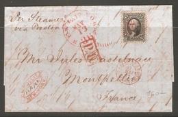 Lettre De 1862 ( Etats-Unis ) - Central America