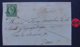 CÉRÈS N° 2 B . Oblitéré Avec Certificat . - 1852 Louis-Napoleon