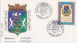 MILLENAIRE D'ALGER (Blason)  Yvt N°580 - FDC ALGERIE ORAN 22-12-1973 - Algérie (1962-...)