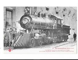 Les Locomotives - Etats-Unis - Locomotive à 4 Roues Accouplées Et à Bogie Du New-York Central Railway - édit. F.F. Fleur - Trains