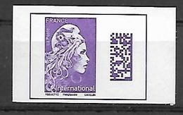 "France 2019 -  ""Marianne L'engagée D'Yseult"" (du Carnet) - International ** (autoadhésif Du Carnet) - France"